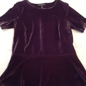 Velvet peplum blouse